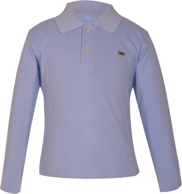 Gkidz Solid Boy's Polo Neck Light Blue T-Shirt