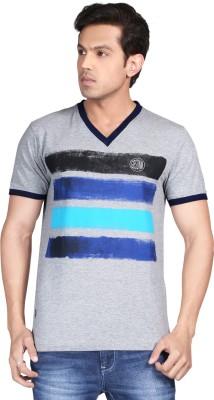 Glabrous Geometric Print Men's V-neck T-Shirt