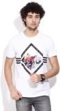 Adidas Printed Men's Round Neck White T-...