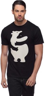 LLO Fashions Printed Men,s Round Neck Black T-Shirt