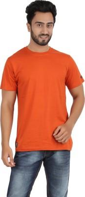 Ocean Race Solid Men,s Round Neck Orange T-Shirt