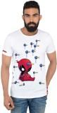 Deadpool Printed Men's Round Neck Multic...