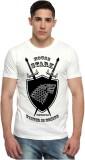 Sharq Printed Men's Round Neck White T-S...