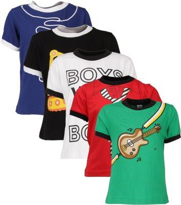 Gkidz Graphic Print Boy's Round Neck T-Shirt