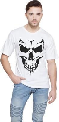 Shopping Monster Graphic Print Men's Round Neck White T-Shirt