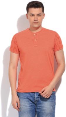 Killer Solid Men's Henley Orange T-Shirt