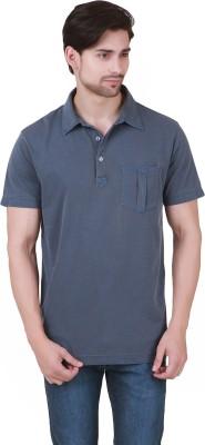 Cherymoya Solid Men's Polo Blue T-Shirt