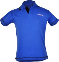 Gkidz Solid Boy's Polo Neck Blue T-Shirt