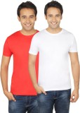 Quetzal Solid Men's Round Neck White, Re...