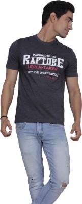 Sandbox Printed Men's Round Neck Reversible Grey T-Shirt