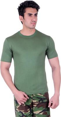 D.V. Saharan & Sons Solid Men's Round Neck Green T-Shirt