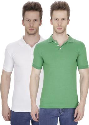 Rexler Solid Men's Polo Multicolor T-Shirt