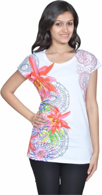 Gee & Bee Printed Women's Round Neck T-Shirt