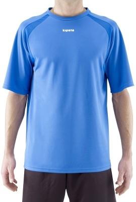 Kipsta Solid Men's Round Neck Blue T-Shirt