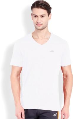 2go Solid Men's V-neck White T-Shirt