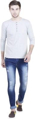 LLO Fashions Solid Men,s Henley Grey T-Shirt