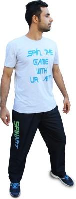 SPINART Printed Men,s, Women's Round Neck Grey T-Shirt