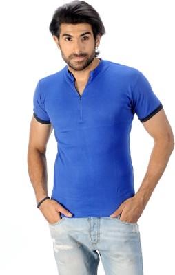 Magiq Self Design Men's Henley T-Shirt