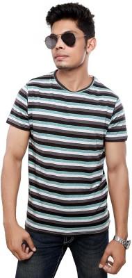 Viral Lifestyle Striped Men's Round Neck Multicolor T-Shirt
