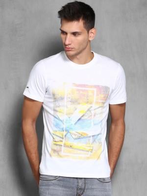 WROGN Printed Men's Round Neck White T-Shirt