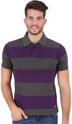 House Of Fett Striped Men's Polo Neck Multicolor T-Shirt