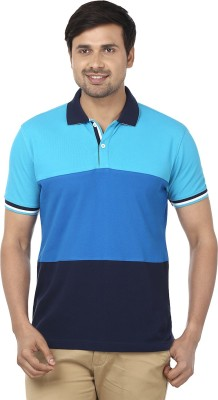 Ruse Solid Men's Polo Blue T-Shirt