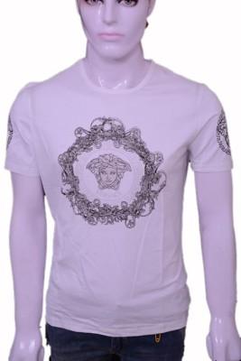 Throwkart Solid Men's Round Neck White T-Shirt