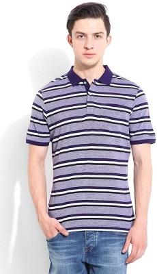 Blackberrys Printed Men's Polo Purple T-Shirt