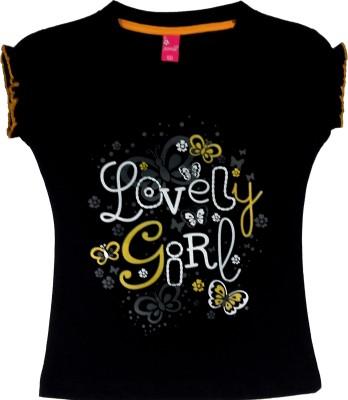 Vstex Graphic Print Girl's Round Neck T-Shirt