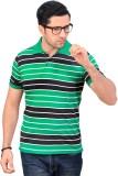 Hi-Sport Striped Men's Polo Neck Green T...