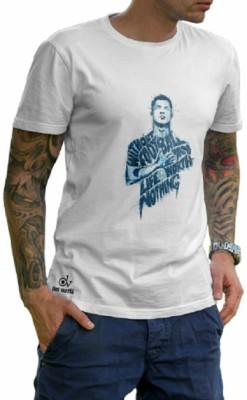 dasvastratrading Printed Men's Polo Neck White T-Shirt