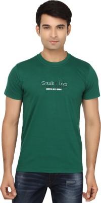 Strak Solid Men's Round Neck Dark Green T-Shirt