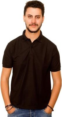 Skitt Clothing Co Solid Men's Polo Neck Black T-Shirt