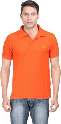 Sniper Solid Men's Polo Neck Orange T-Shirt