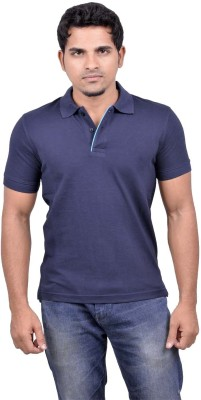 Gumality Solid Men's Polo Neck T-Shirt