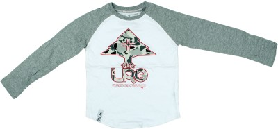 Parv Collections Printed Boy,s Round Neck White T-Shirt