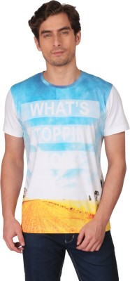 CFT Printed Men's Round Neck White T-Shirt