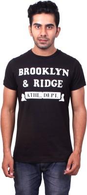 Brooklyn And Ridge Graphic Print, Printed Men's Round Neck Black T-Shirt