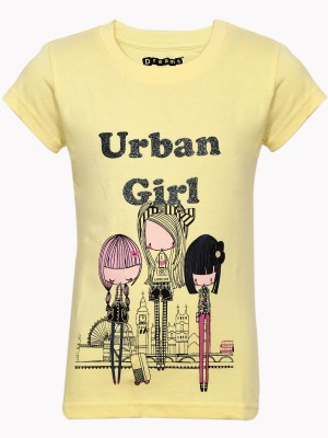 Dreamszone Printed Girl's Round Neck T-Shirt