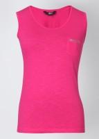 Alibi Solid Women's Round Neck Pink T-Shirt best price on Flipkart @ Rs. 399