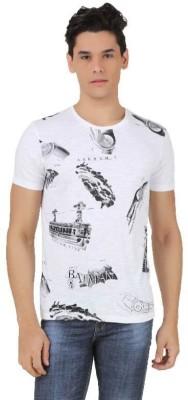 Akhram Asylum Printed Men's Round Neck White T-Shirt