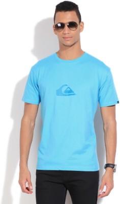 Quiksilver Solid Men's Round Neck Blue T-Shirt