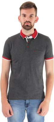 Cloak & Decker Solid Men's Polo Neck Grey T-Shirt