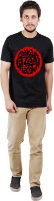 Pickle Moreon Printed Men's Round Neck Black T-Shirt