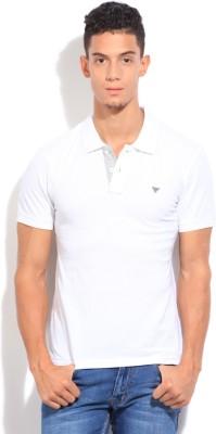 Numero Uno Solid Men's Polo White T-Shirt