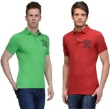 Tailor Craft Solid Men's Polo Neck Green...