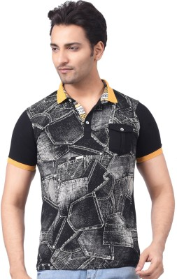 Victor & Rolf Printed Men's Polo Black T-Shirt
