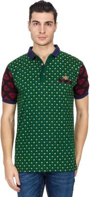 Vidyuth Traders Self Design Men's Polo Neck Green T-Shirt