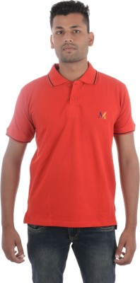Moladz Solid Men's Polo Red T-Shirt