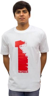 Epic Ink Printed Men's Round Neck White T-Shirt